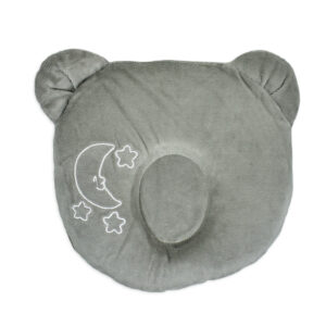 Star Print Pooh Shape Soft Pillow - Grey-0