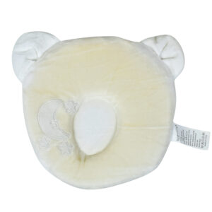 Star Print Pooh Shape Soft Pillow - Cream-0