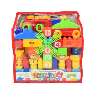 Toy Brick Amusement Park - Blocks Game for Children - Multicoor-0