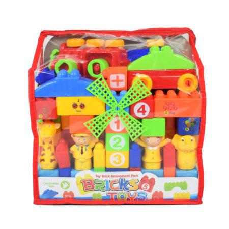 Toy Brick Amusement Park - Blocks Game for Children - Multicoor-0