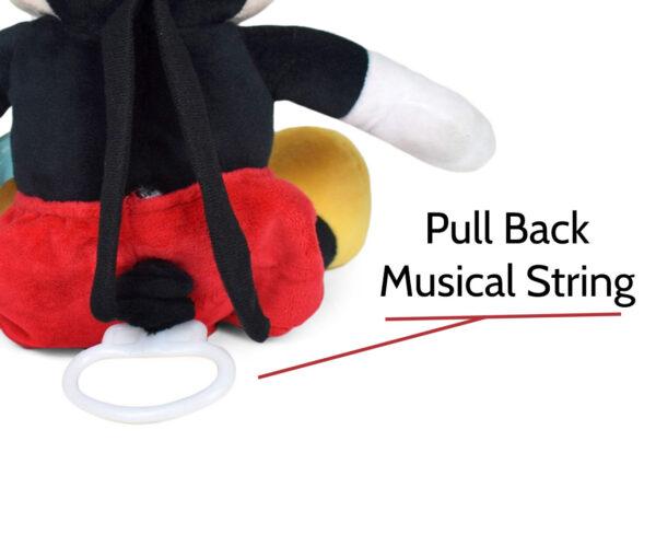 Pull Back Instrumental Plush Toy Disney Character - Mickey-21694