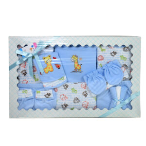Montaly 14 Pieces New Born Gift Set - Blue -0