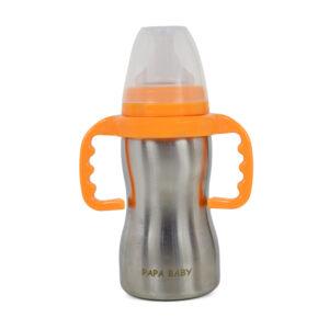 Papa Baby Multipurposable Steel Feeding Bottle - 290 ml-0
