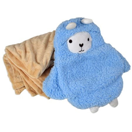 Baby Blanket with Penguin Cover - Blue-0
