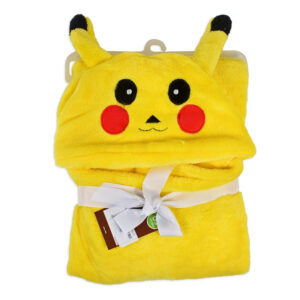 Very Soft Baby Hooded Blanket (Pikachu) - Yellow-0