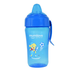 Mumlove Soft Silicone Spout Sipper (12M+) Blue - 300ml -0