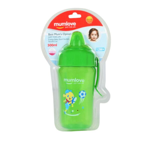 Mumlove Soft Silicone Spout Sipper (12M+) Green - 300ml-21855