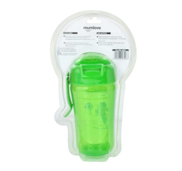 Mumlove Soft Silicone Spout Sipper (12M+) Green - 300ml-21856