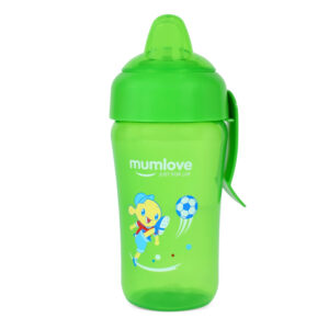 Mumlove Soft Silicone Spout Sipper (12M+) Green - 300ml-0