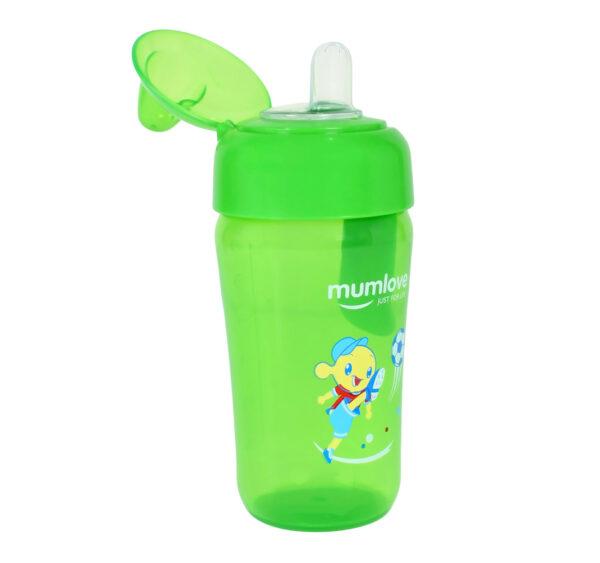 Mumlove Soft Silicone Spout Sipper (12M+) Green - 300ml-21858