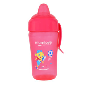 Mumlove Soft Silicone Spout Sipper (12M+) Pink - 300ml-0