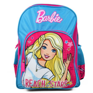 Barbie Printed School Bag Blue - 18 inches-0