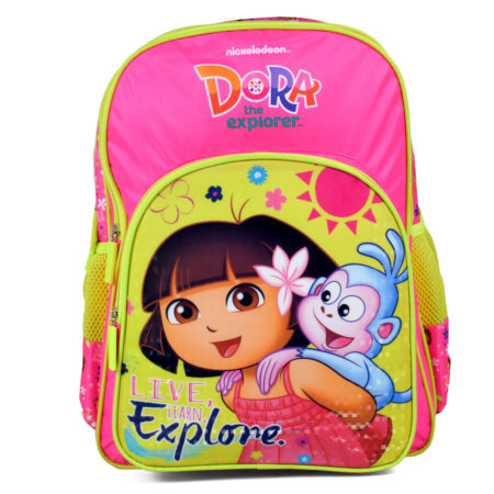Dora The Explorer School Bag Yellow/Pink - 14 inches-0