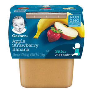 Gerber 2nd Foods Apple, Strawberry & Banana Baby Food 113gm Tubs - 2 Count-0