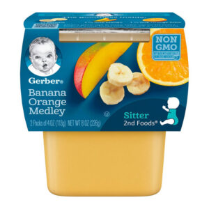Gerber 2nd Foods Banana, Orange and Medley Baby Food 113gm Tubs - 2 Count-0