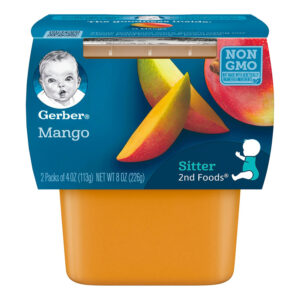 Gerber 2nd Foods Mango Baby Food, 113gm Tubs, 2 Count-0