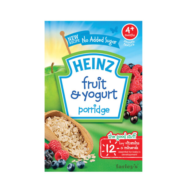 Heinz Fruit & Yogurt Porridge (4M+) - 125gm-0
