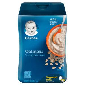 Gerber Single-Grain Baby Cereal, Oatmeal - 454gm-0