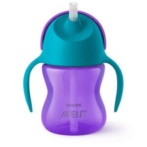 Philips Avent Bendy Straw Cup 9M+ Purple - 200 ml -0