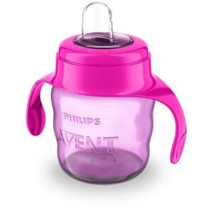 Philips Avent Classic Flexible Soft Spout Cup, 200ml (Pink/Purple)-0