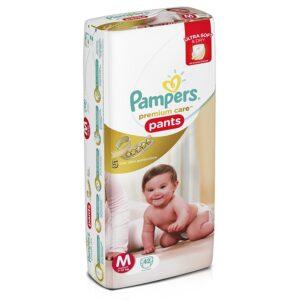 Pampers Premium Care Medium Size Diaper Pants - 42 Count-0