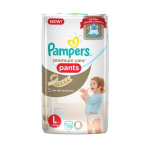 Pampers New Premium Care Large Size Diapers Pants - 58 Count-0