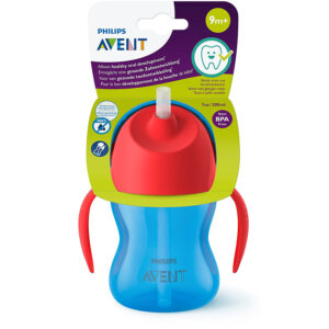 Philips Avent Bendy Straw Cup 9M+ Blue - 200 ml -0