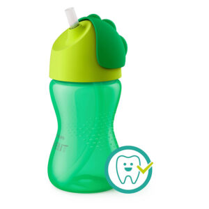 Philips Avent Bendy Straw Cup 12M+, 300ml (Green)-0