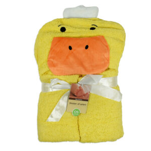Carters Duck Charcter Baby Hooded Towel - Yellow-0