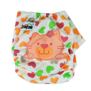 Free Size Reusable Cloth Diaper With Insert - Light Pink-0