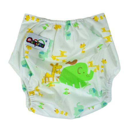 Free Size Reusable Cloth Diaper With Insert (Animals) - Multicolor-0