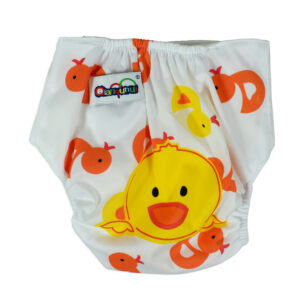 Free Size Reusable Cloth Diaper With Insert (Duck Print) - Multicolor-0