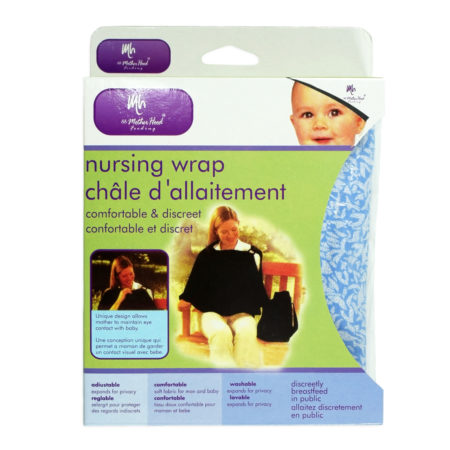 Mother Hood Nursing Wrap, Nursing Cover - Blue-0