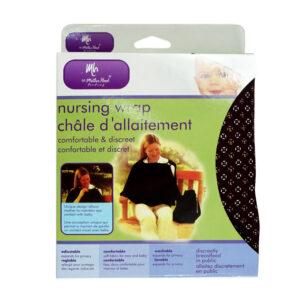 Mother Hood Nursing Wrap, Nursing Cover - Black-0