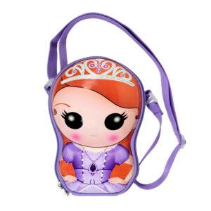 Sofia The First 3D Shape Sling Bag - Voilet-0