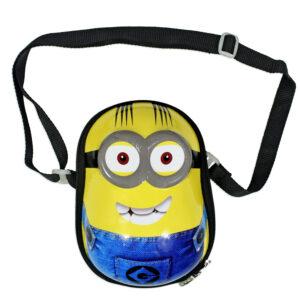 Minions 3D Shape Sling Bag - Yellow/Blue-0