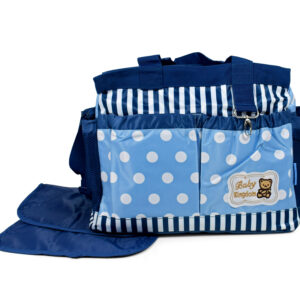 Diaper Bag (Mother Bag) With Free Changing Sheet - Blue-0