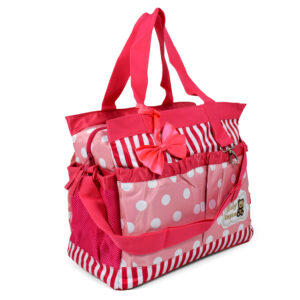 Diaper Bag (Mother Bag) With Free Changing Sheet - Pink-0
