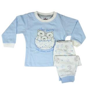 Ollypop Full Sleeve T-shirt & Lower Set - Sky Blue-0