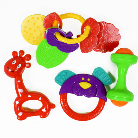 Multicolor Baby Musical Rattle Set - 4 Pcs-0