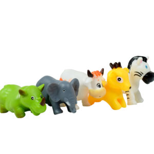 Bath Toys Non-Toxic Animal Shape Soft Toys for Baby, Kids Bath Toys Chu Chu - 5 Pieces -0