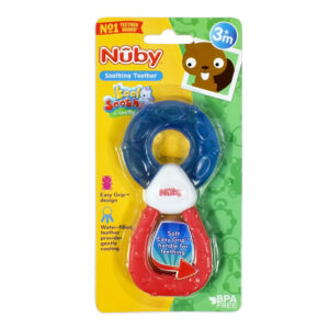 Nuby Water Filled Soothing Teether - Blue/Red-0