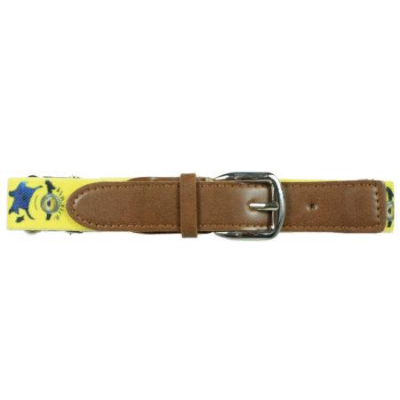 Italy Stretchable Kids Belt (Minions) - Yellow-0