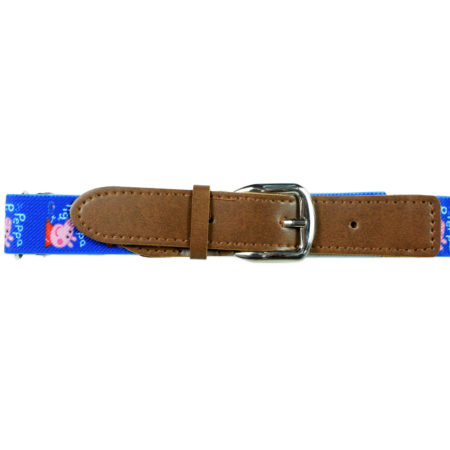 Italy Stretchable Kids Belt (Peppa Pig) - Blue-0