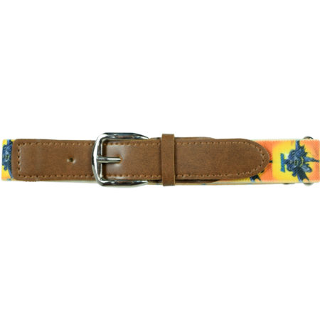 Italy Stretchable Kids Belt (Batman) - Yellow-0