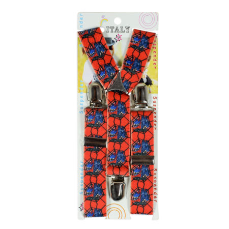 Adjustable Suspender for Kids - Gallus (Spiderman) - Red-0
