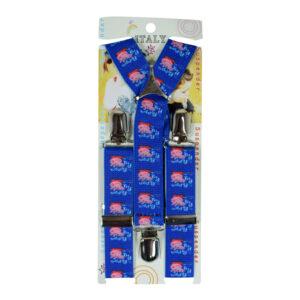 Kid Suspenders adjustable - Blue-0