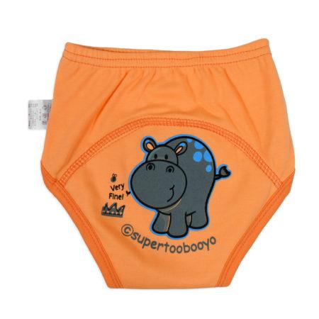 Baby Infants Breathable Soft Cotton Diaper Pants Reusable Nappy - Orange-0