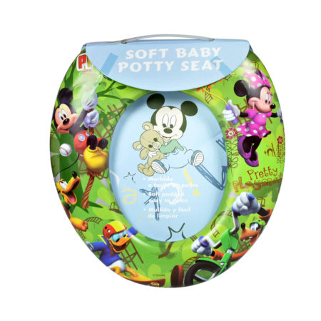 Soft Cushion Potty Trainer Comfortable Seat (Micky) - Green-0
