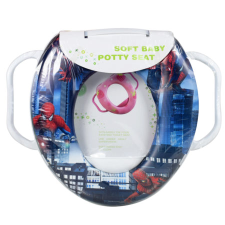 Soft Cushion Potty Trainer Comfortable Seat (Spider-Man) - Blue-0